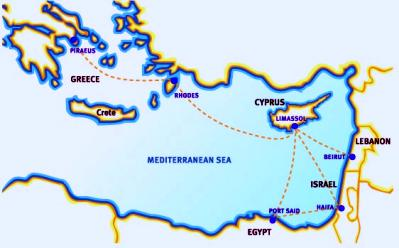 Cyprus cruises cruises to egypt cruises from cyprus boat trips cyprus cruises map gumiabroncs Image collections